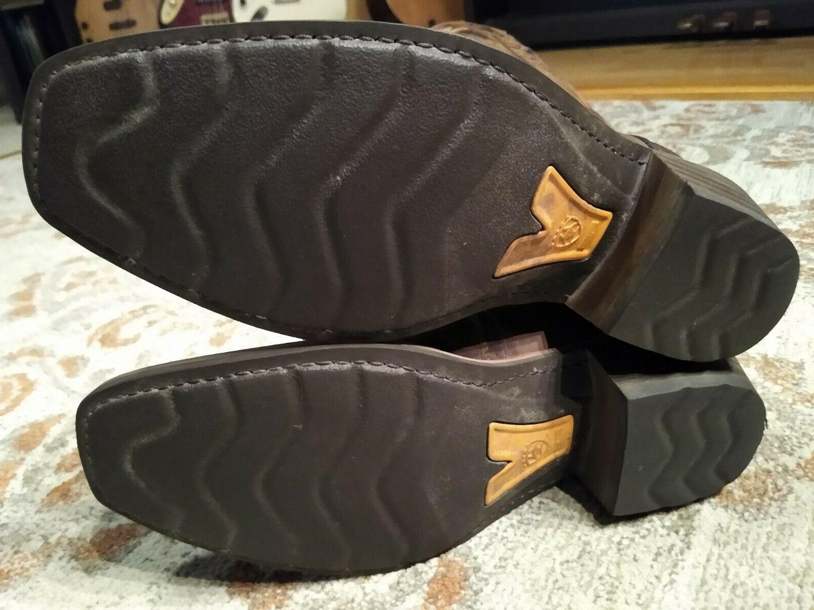 """ARIAT HERITAGE LEATHER 11"""" COWBOY #10023360 8.5"""