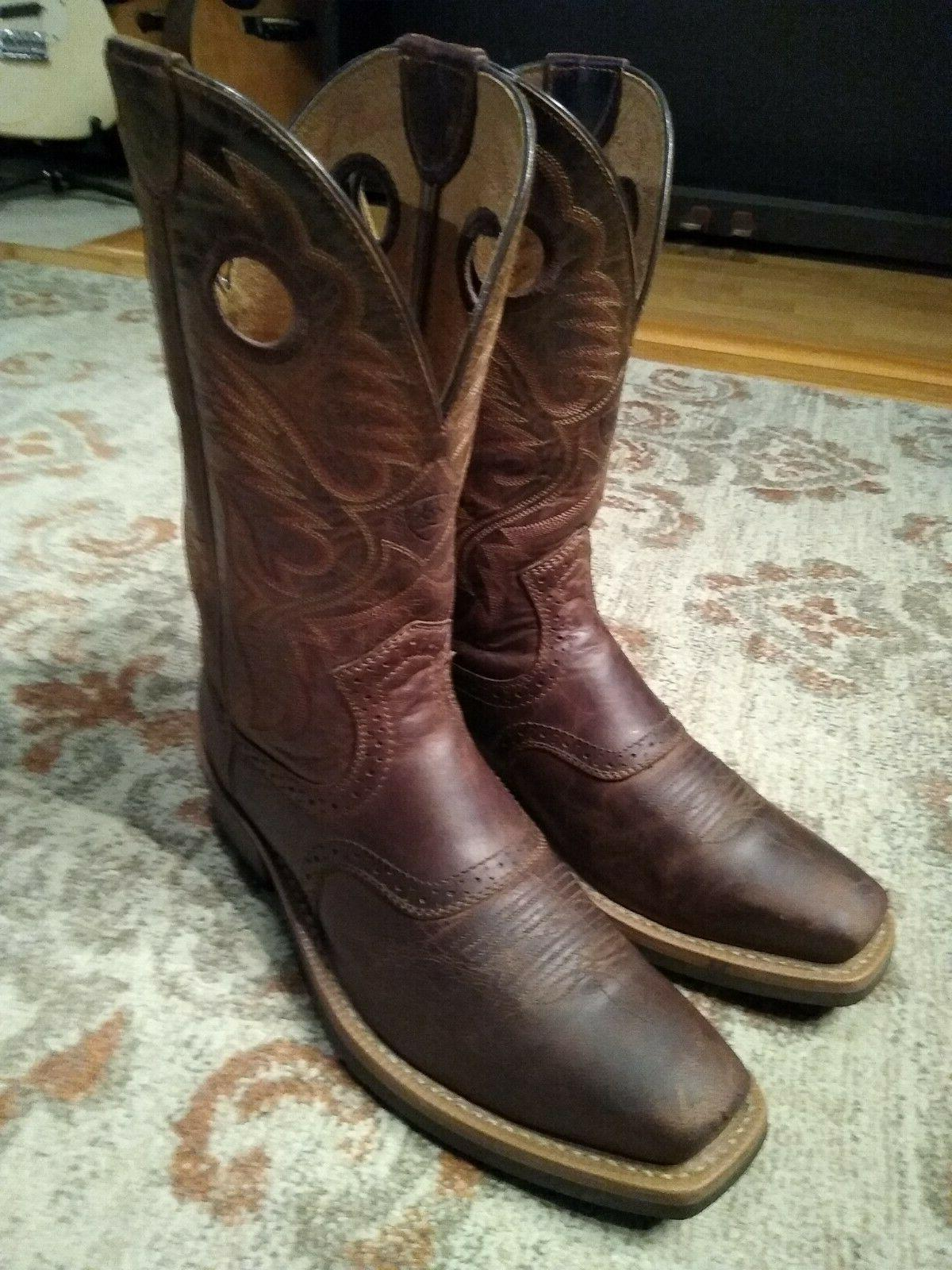 heritage brown bullhide leather s toe 11