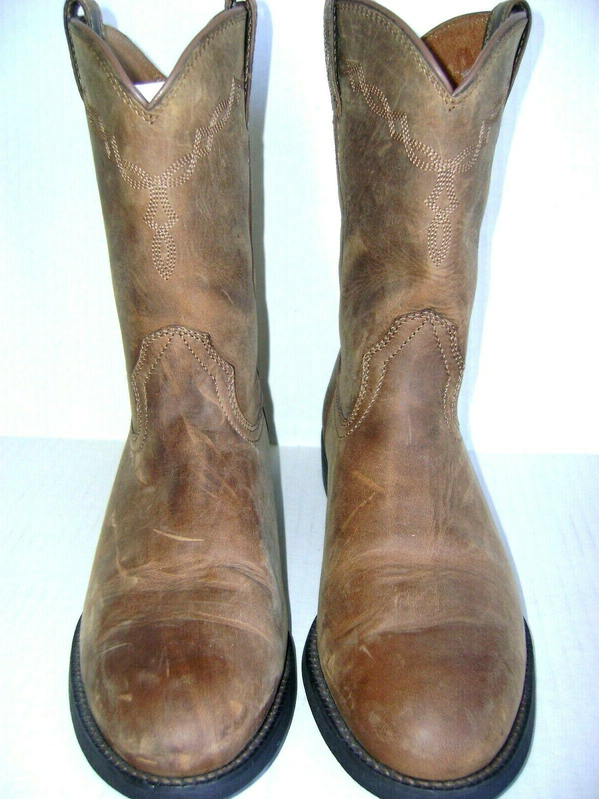 heritage round toe mens western cowboy boots
