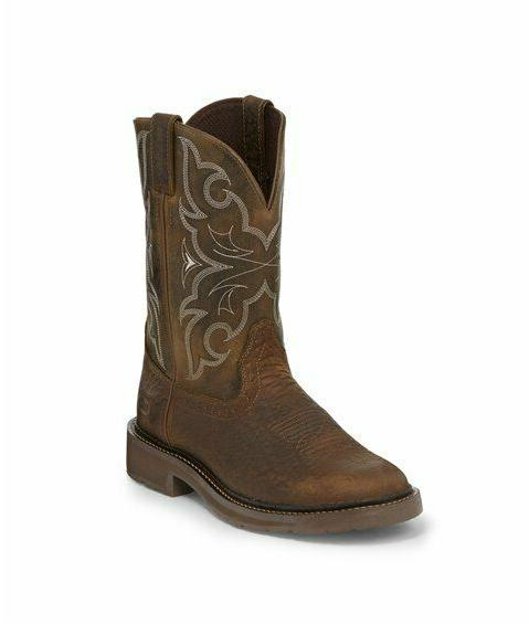 justin boots for work amarillo chocolate western