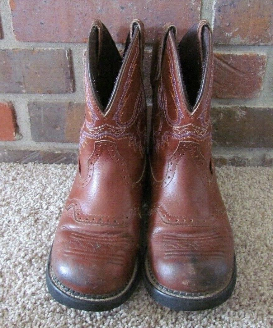 Justin Leather Cowboy Brown Women's Size