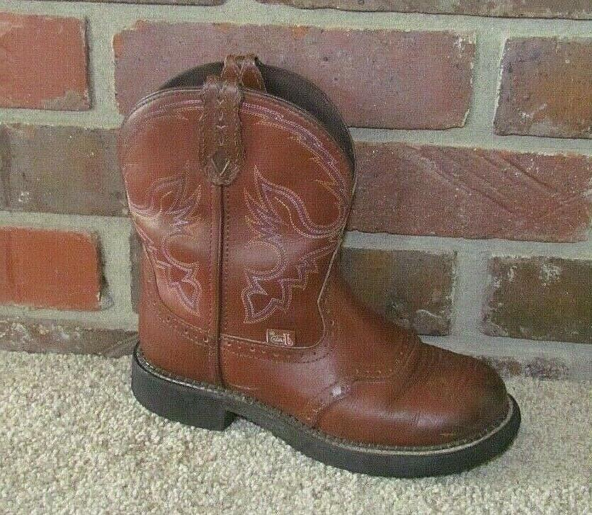 justin gypsy l9914 leather cowboy boots brown