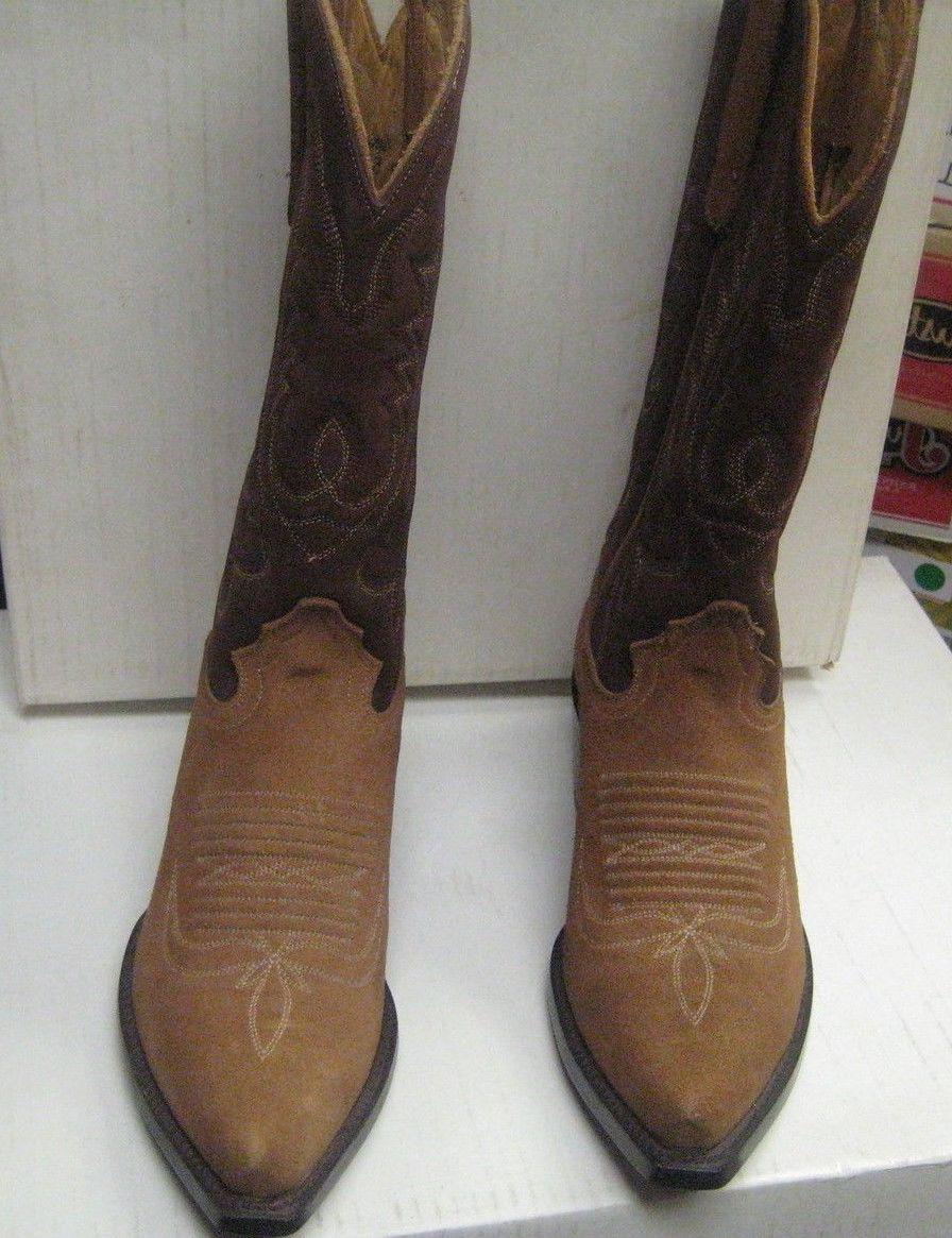 Star Boots Ladies Tan and Brown Boots