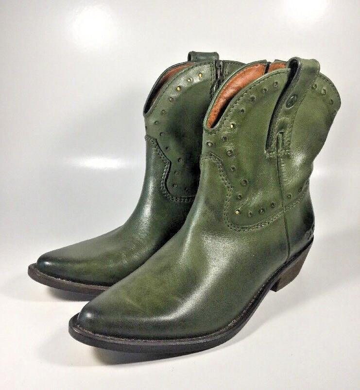 M2543 New Women's Lucky Brand Chantel Dark Green Zip Cowboy