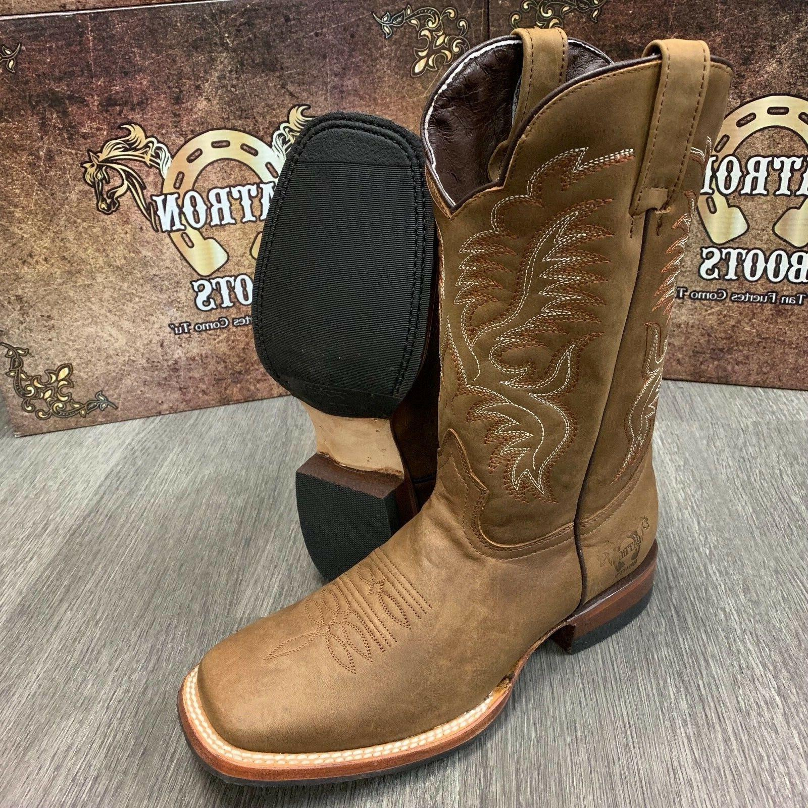 MEN'S WESTERN COWBOY REAL LEATHER
