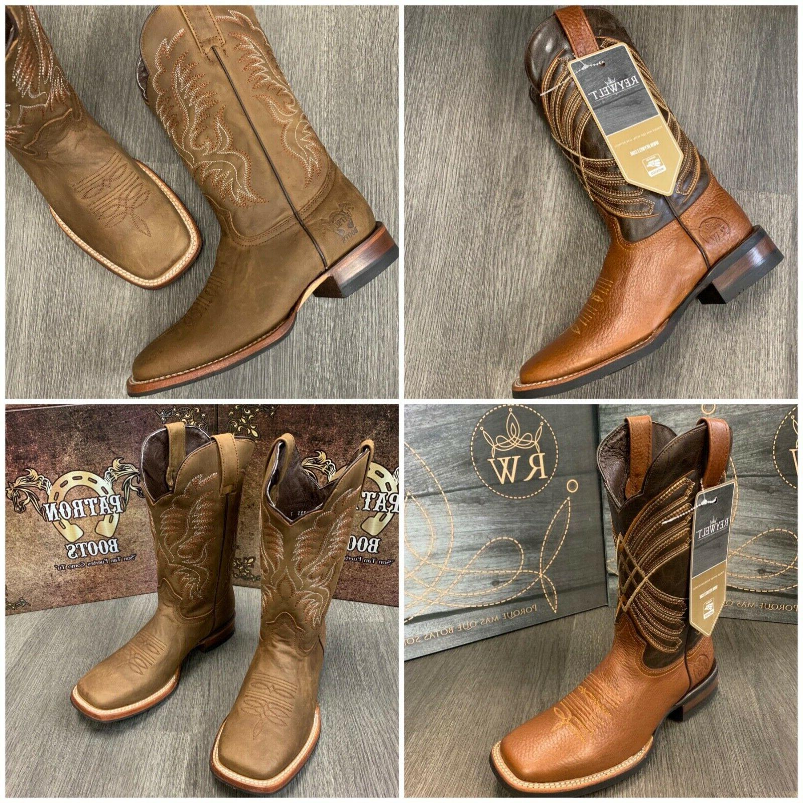 men s brown work boots western cowboy