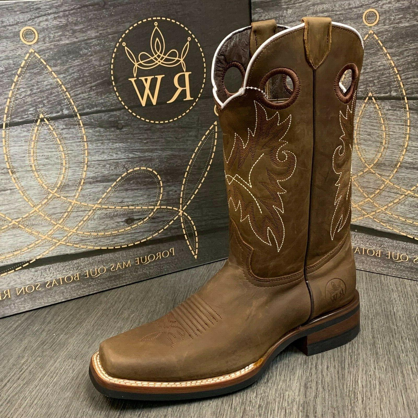 MEN'S WESTERN REAL LEATHER