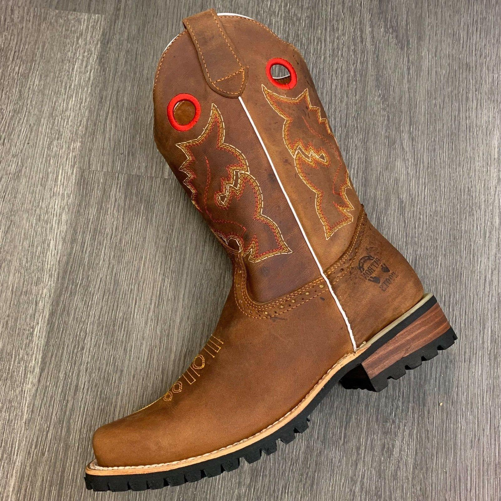 COWBOY SQUARE LEATHER TRACTOR SOLE