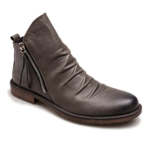 Leather Hiking Buckle Round Toe