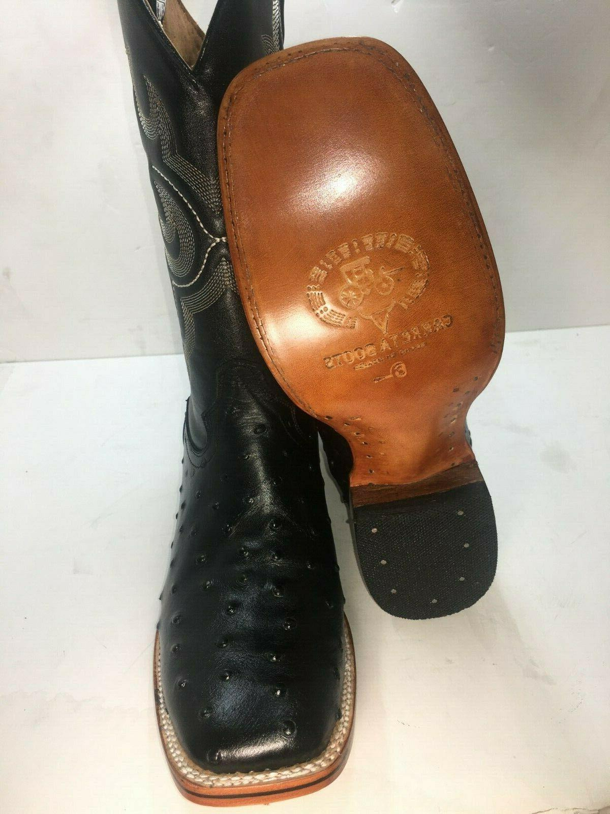 Men's Cowboy Boots Print Leather Western Rodeo Square
