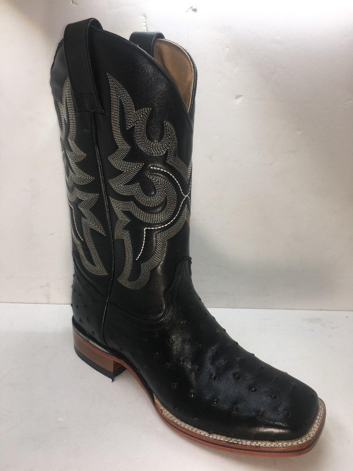 Men's Cowboy Boots Print Square Toe Ho
