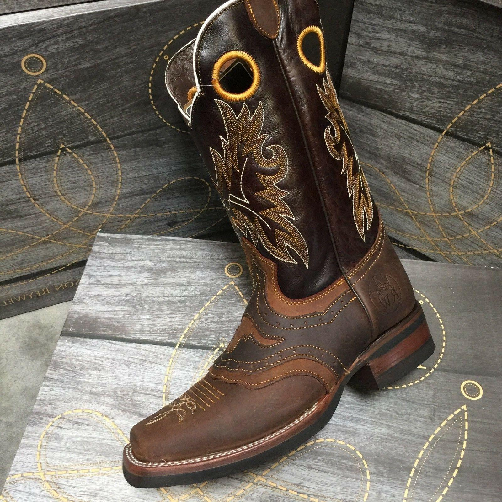 MEN'S RODEO COWBOY GENUINE TOE BOOTS