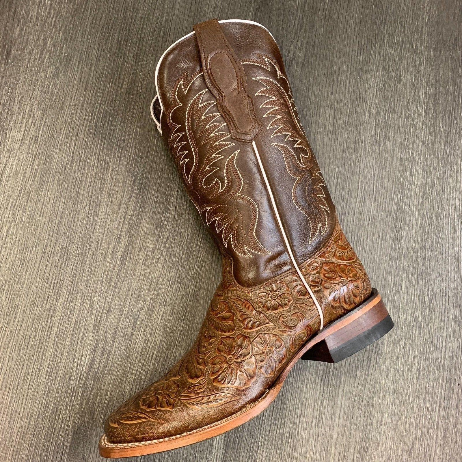 MEN'S RODEO HAND TOOLED SQUARE