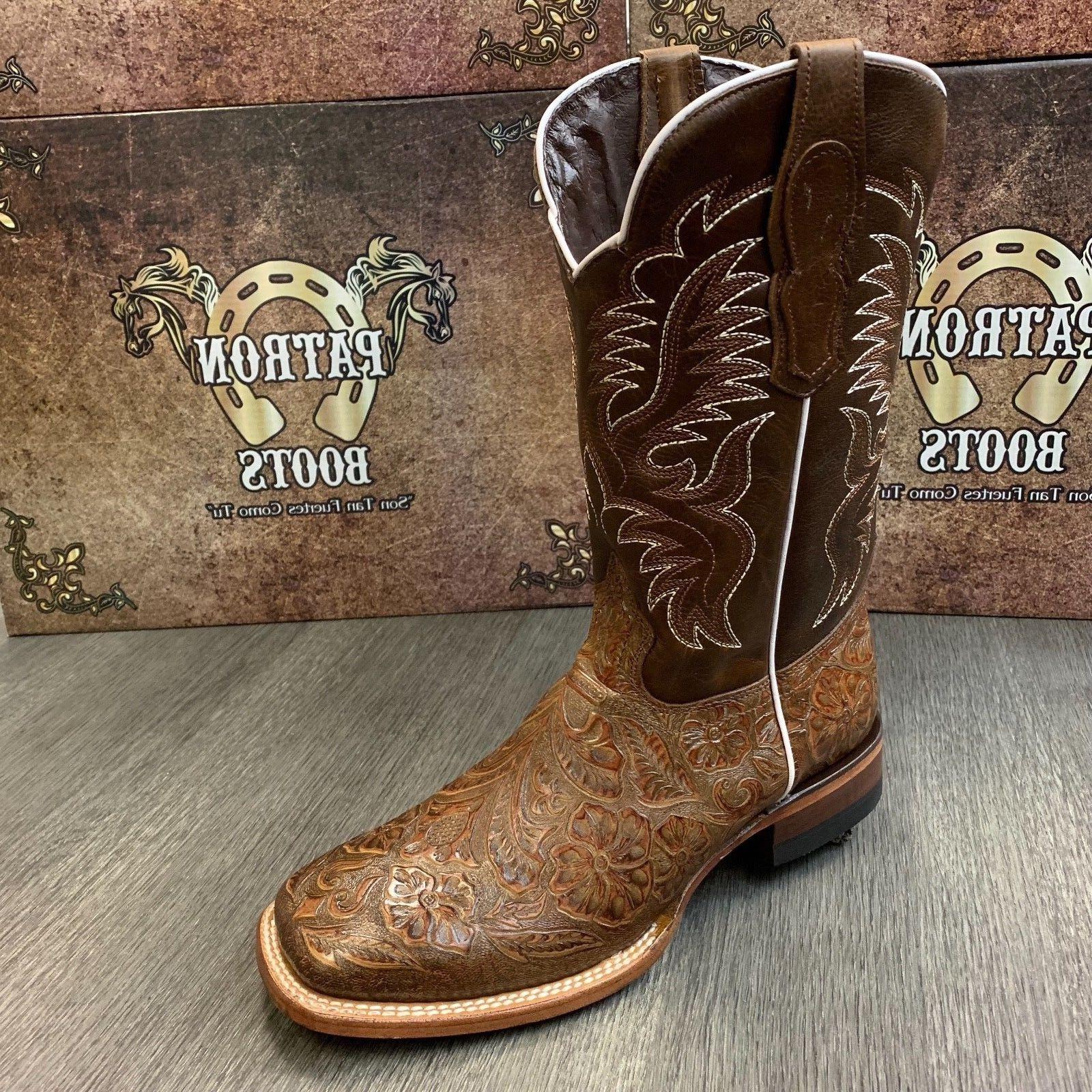 MEN'S BOOTS HAND TOOLED