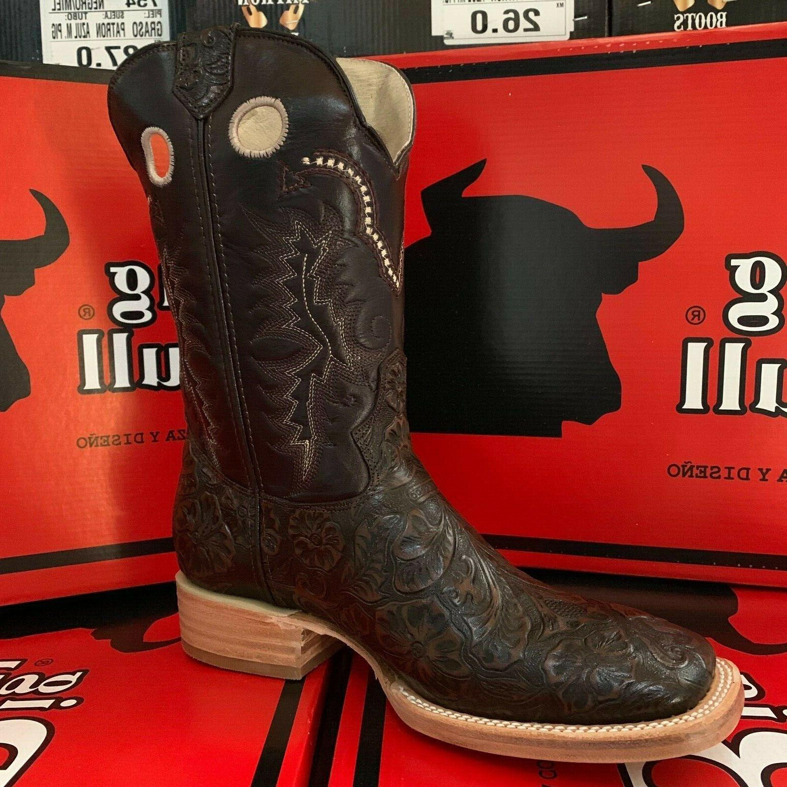 MEN'S COWBOY BOOTS HAND LEATHER WESTERN