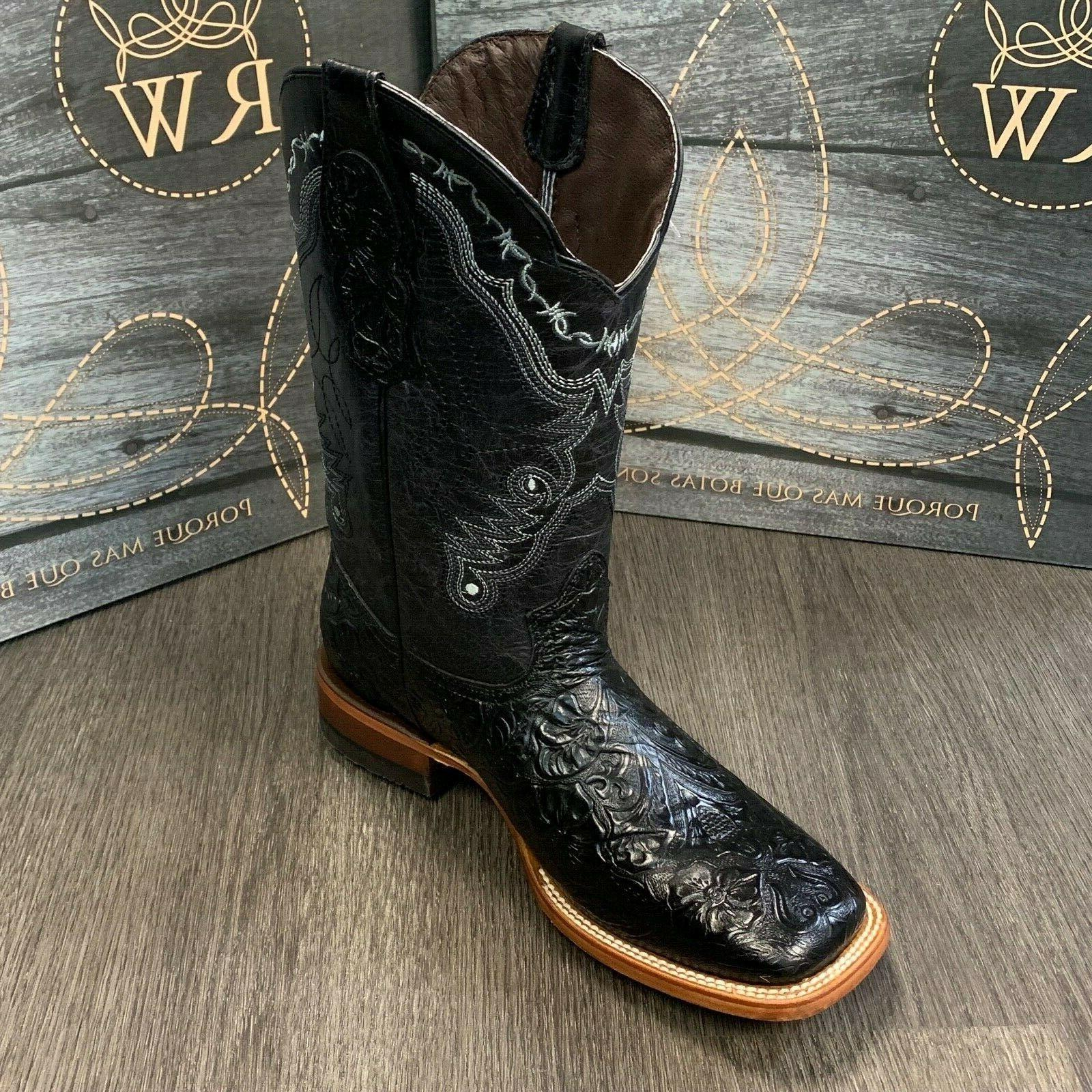 MEN'S REYWELT HAND TOOLED LEATHER