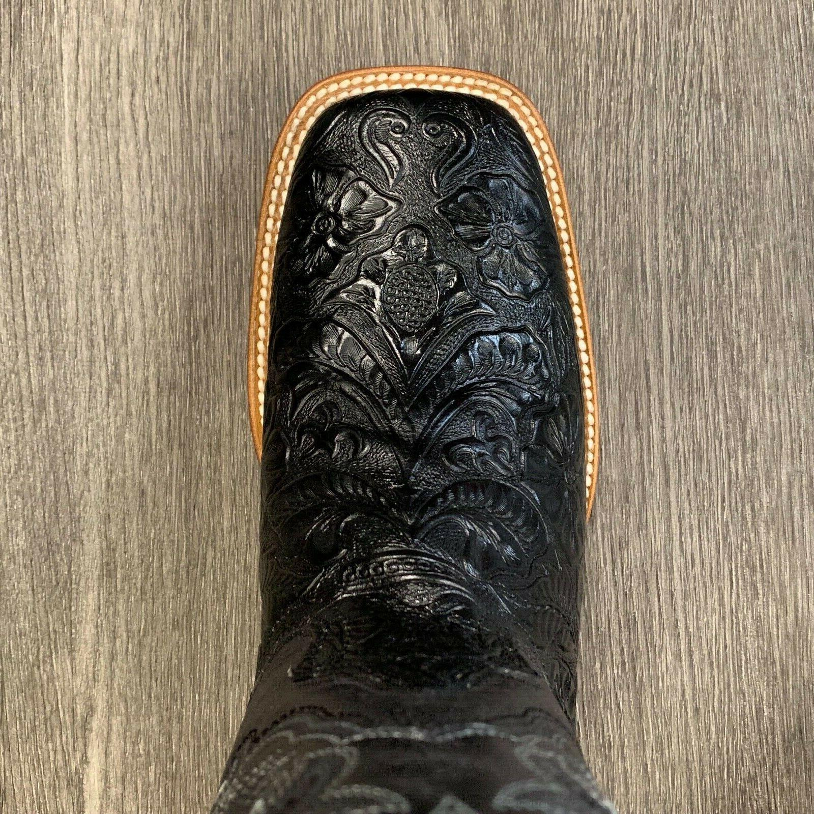 MEN'S RODEO REYWELT BRAND LEATHER WESTERN