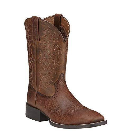 western boot leather wide square