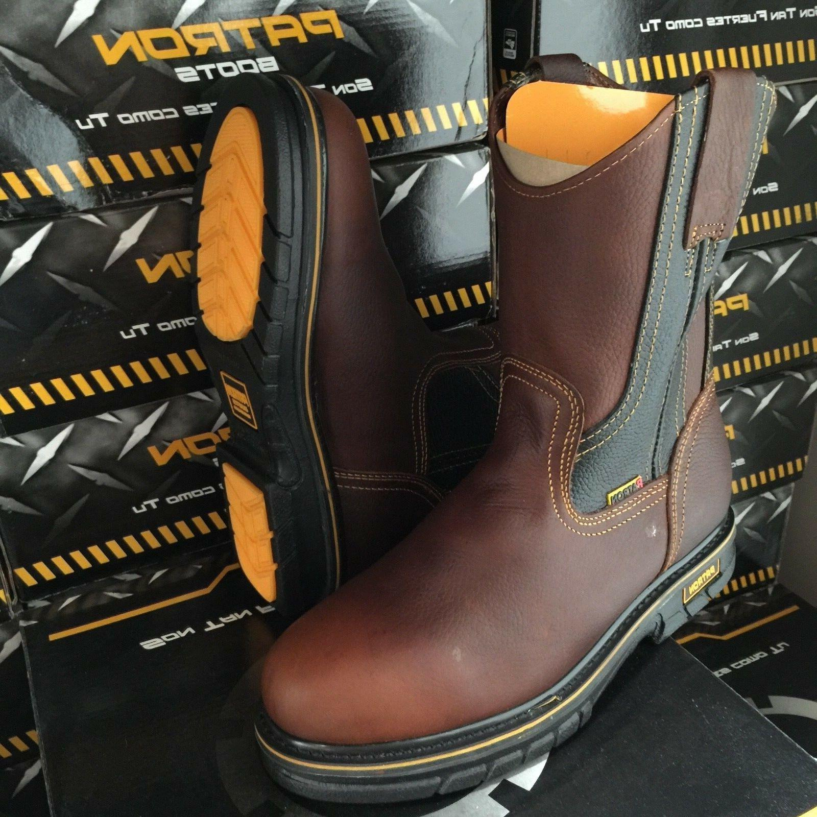 MEN'S BOOTS LEATHER OIL RESISTANT PULL BOOTS