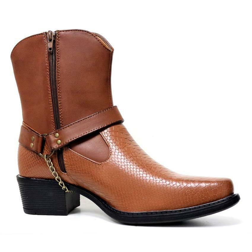 Mens Boots New Western Harness Boots Shoes