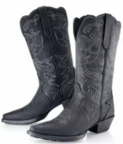 retro sports shoes limited style Mens Black Cowboy Boots Shoes For Crew Brand