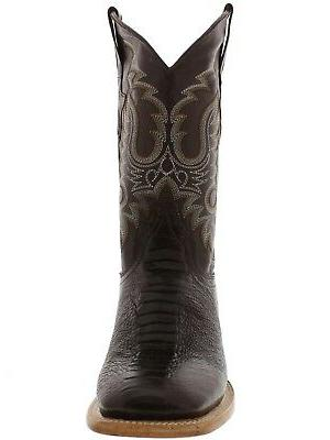 Mens Western Rodeo Leather Toe