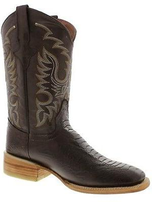Mens Western Rodeo Leather Square Toe