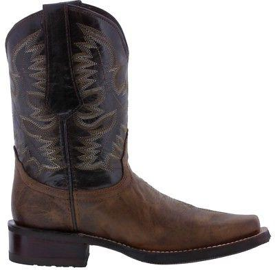 Style Western Cowboy Square Toe Leather
