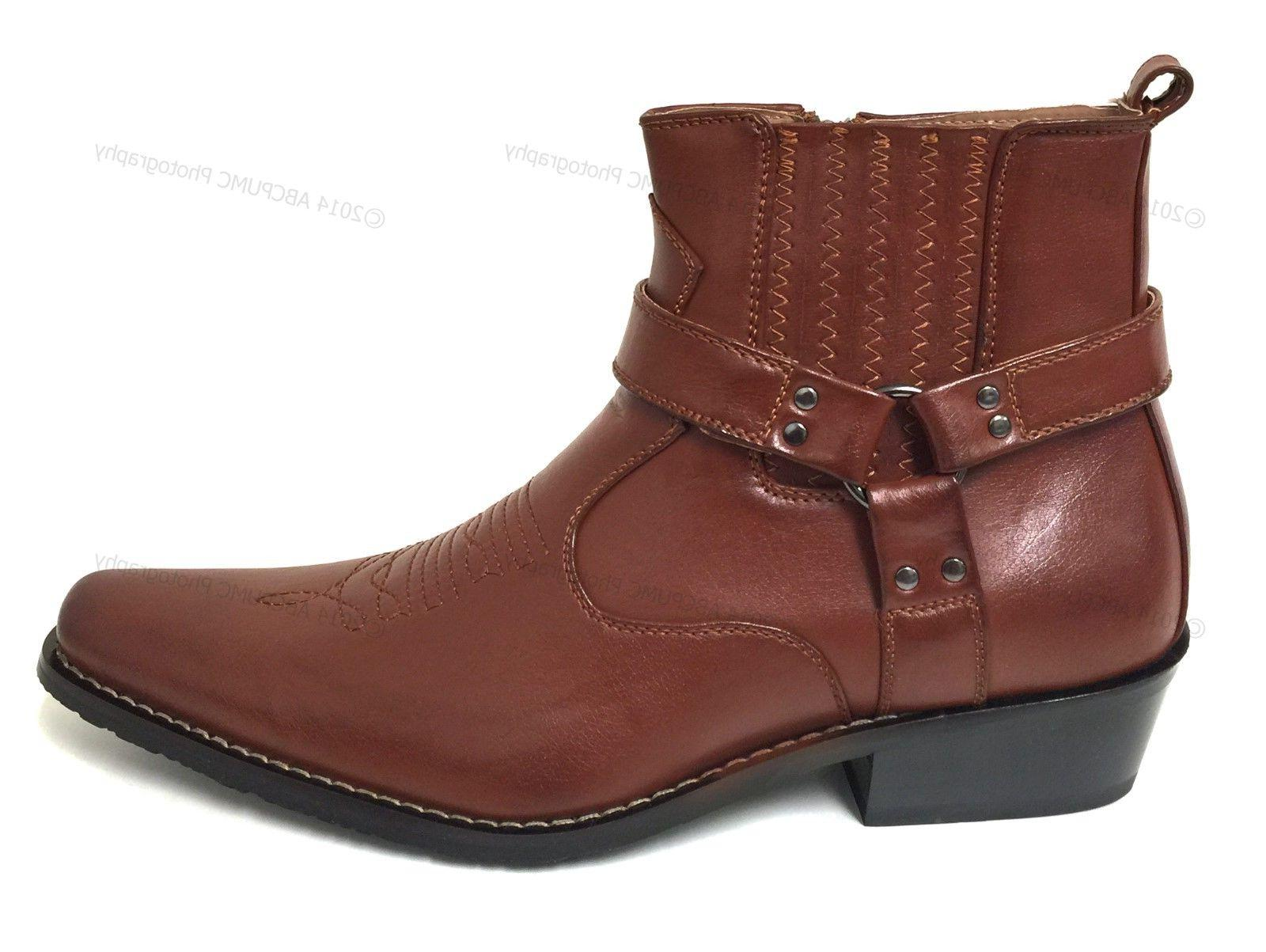 Brand Boots Western Leather Ankle Harness Strap