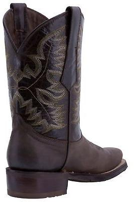 Mens Work Saddle Cowboy Boots Leather
