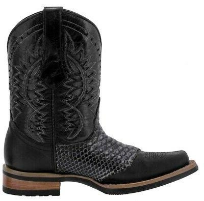 Mens Cowboy Genuine Western Toe