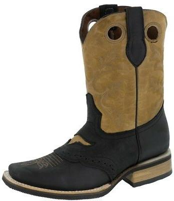 Mens Real Western Cowboy Assorted Colors Square Toe Ranch