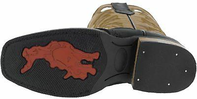 Mens Leather Western Cowboy Boots Square Rodeo Ranch