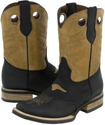 mens real leather western cowboy boots assorted