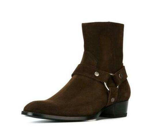 Ankle Boots Gladiator Cowboy High Shoes Sz