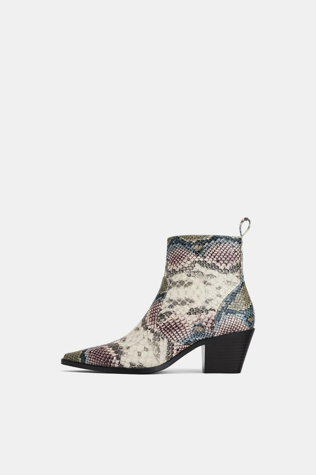 ZARA COWBOY PRINT TOE UK