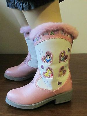 NEW Toddler Girls 5 Fashion Cowboy Boots Disney Princess Lig