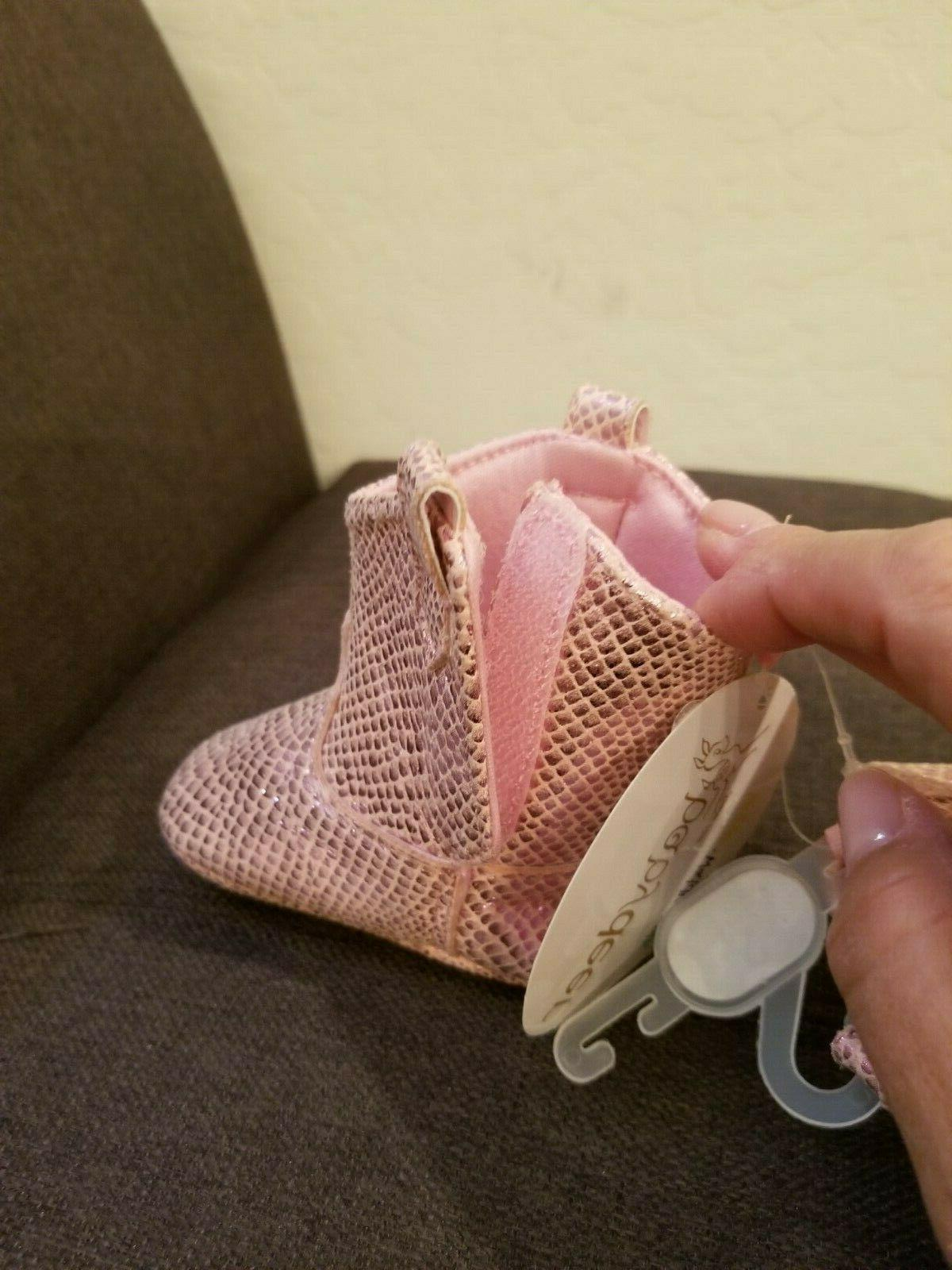NWT Baby Deer Pink Crackle Boot Size 2