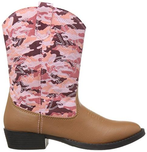 Deer Ranch Cowboy Boot , Camouflage, 11 Kid
