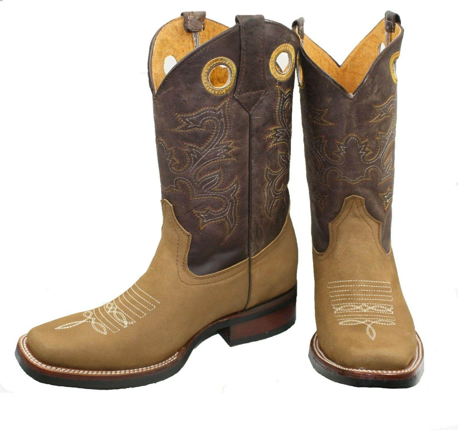 rodeo boots cowboy genuine leather western square