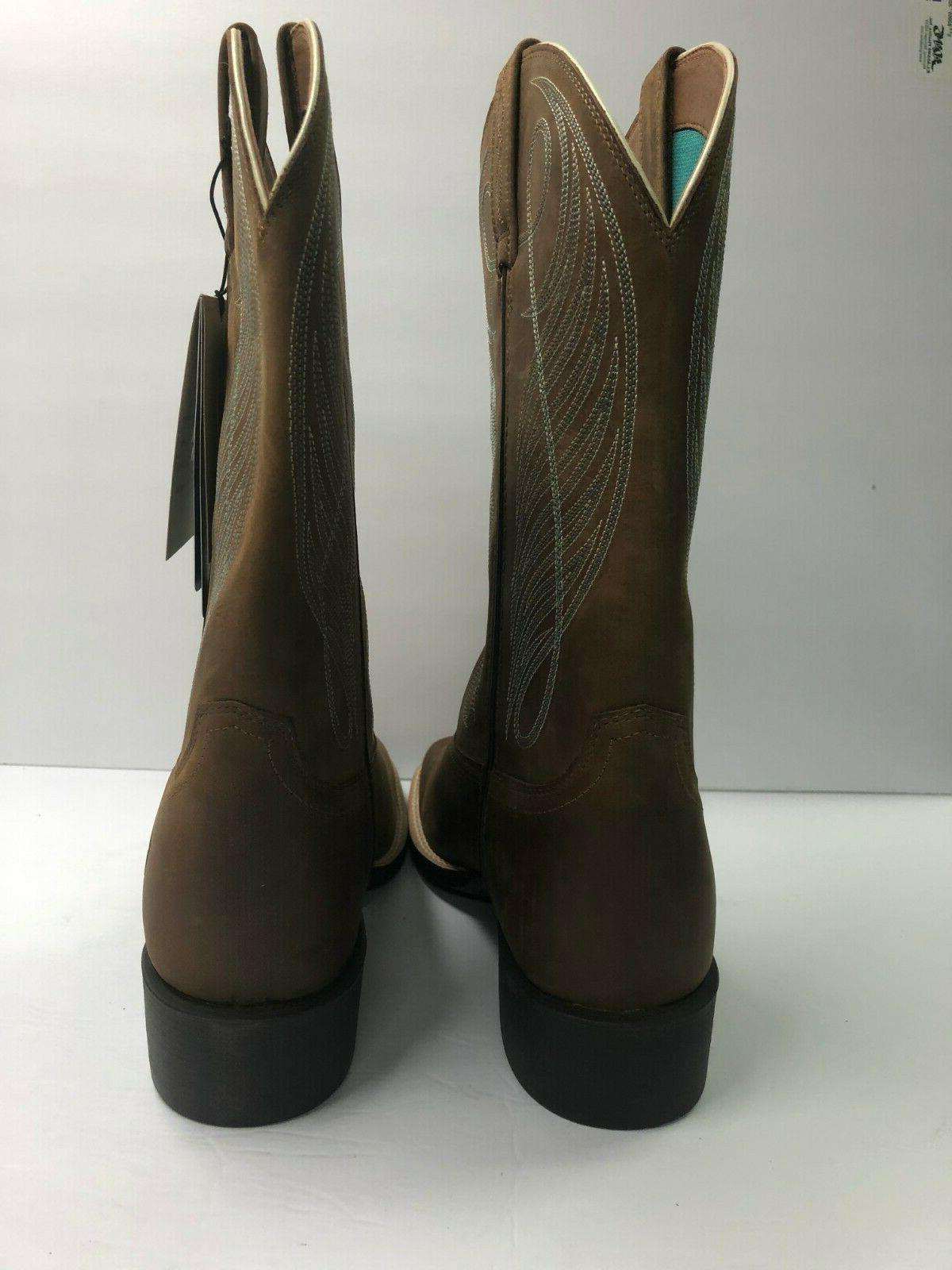 Ariat 11 Square Cowboy Boots 10018528 Powder Brown