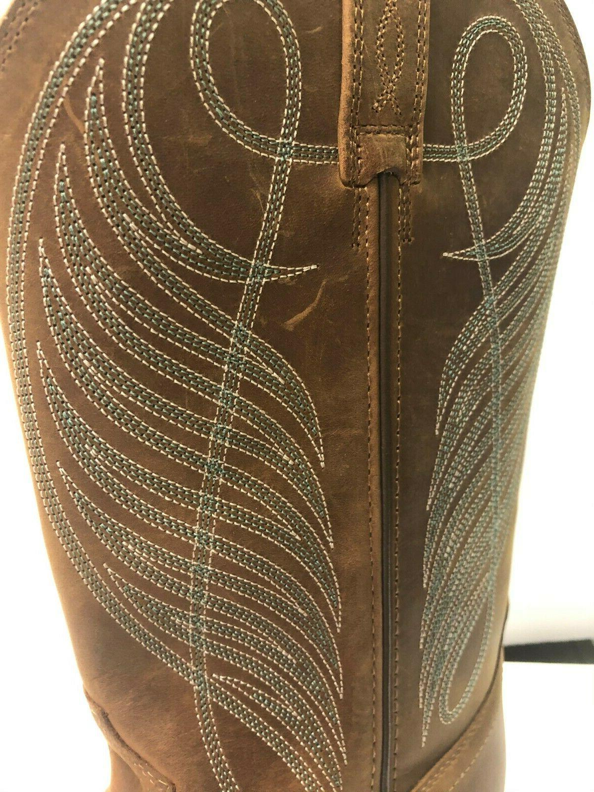 Ariat Up 11 Western Square Cowboy Brown