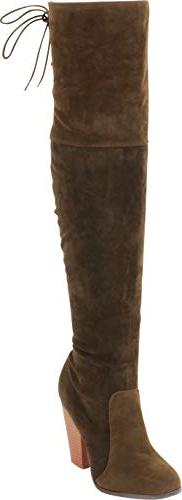 Cambridge Select Women's Thigh-High Western Chunky Stacked H