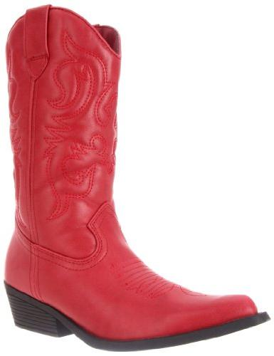 Rampage Women's Wellington Boot,Burnished Red,7 M US