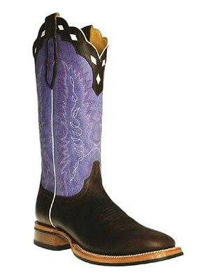 Cinch Western Boots Men Cowboy Square Dark Brown Purple CFM6