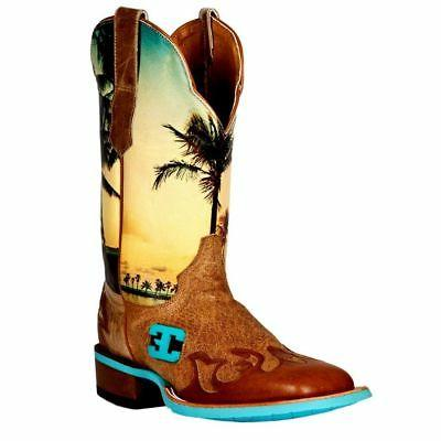 Cinch Western Boots Mens Edge Island Dreams Cowboy CEM123
