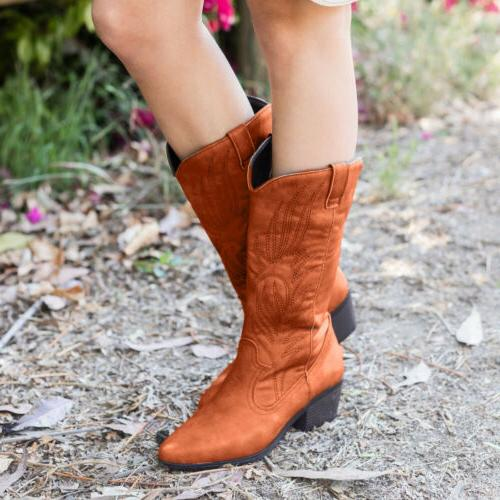 Women Boots Heel Pull Booties US