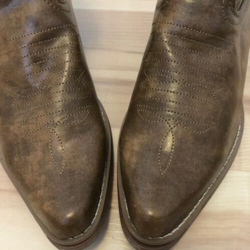 Charles Albert Women's Brown Cowboy NEW 7.5