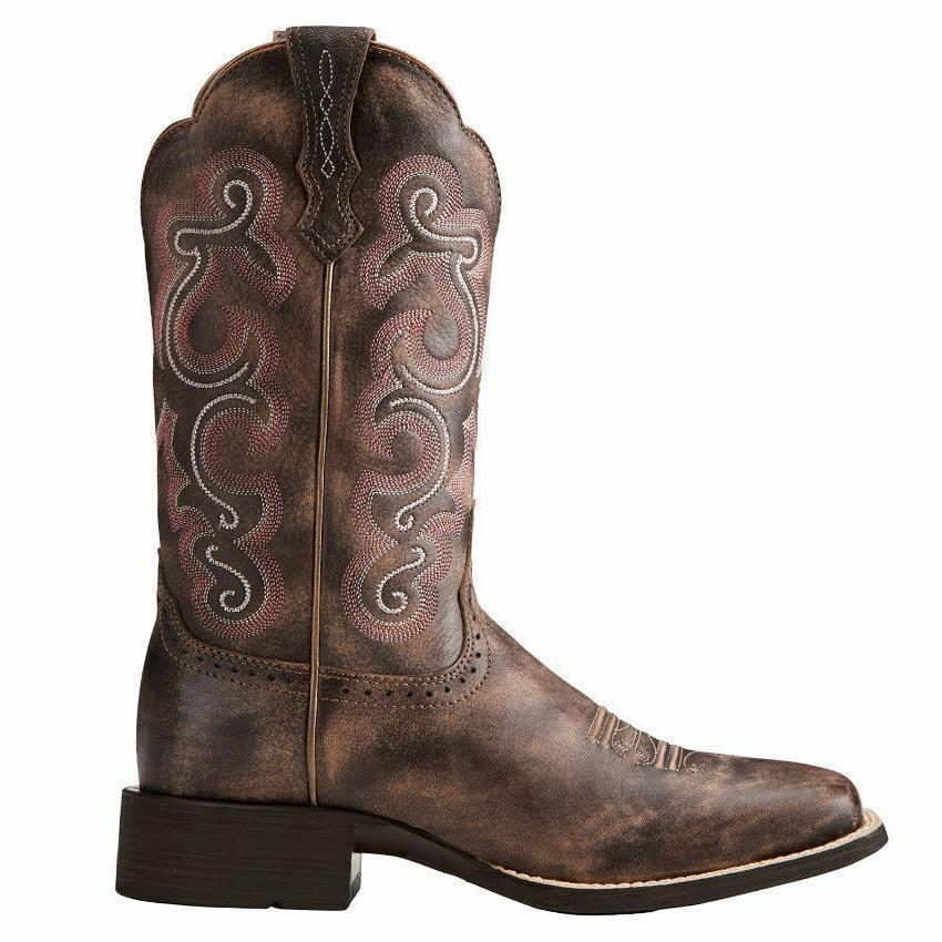 Ariat Women's Chocolate Brown Quickdraw Toe Western Boots 10021616