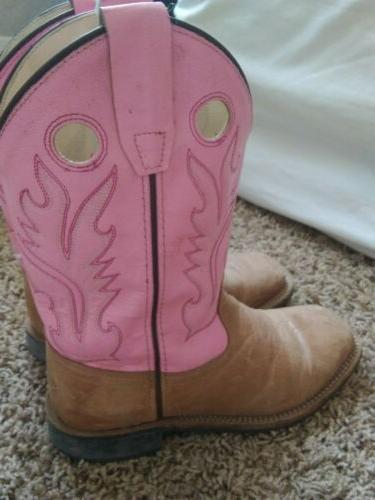 Women's Old West Boots Size 6 Pink 030